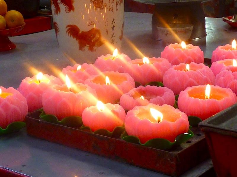 bougies lotus