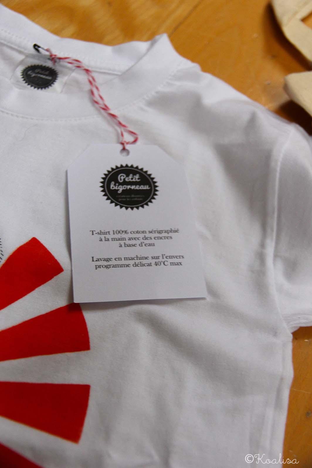 t-shirt panda petit bigorneau