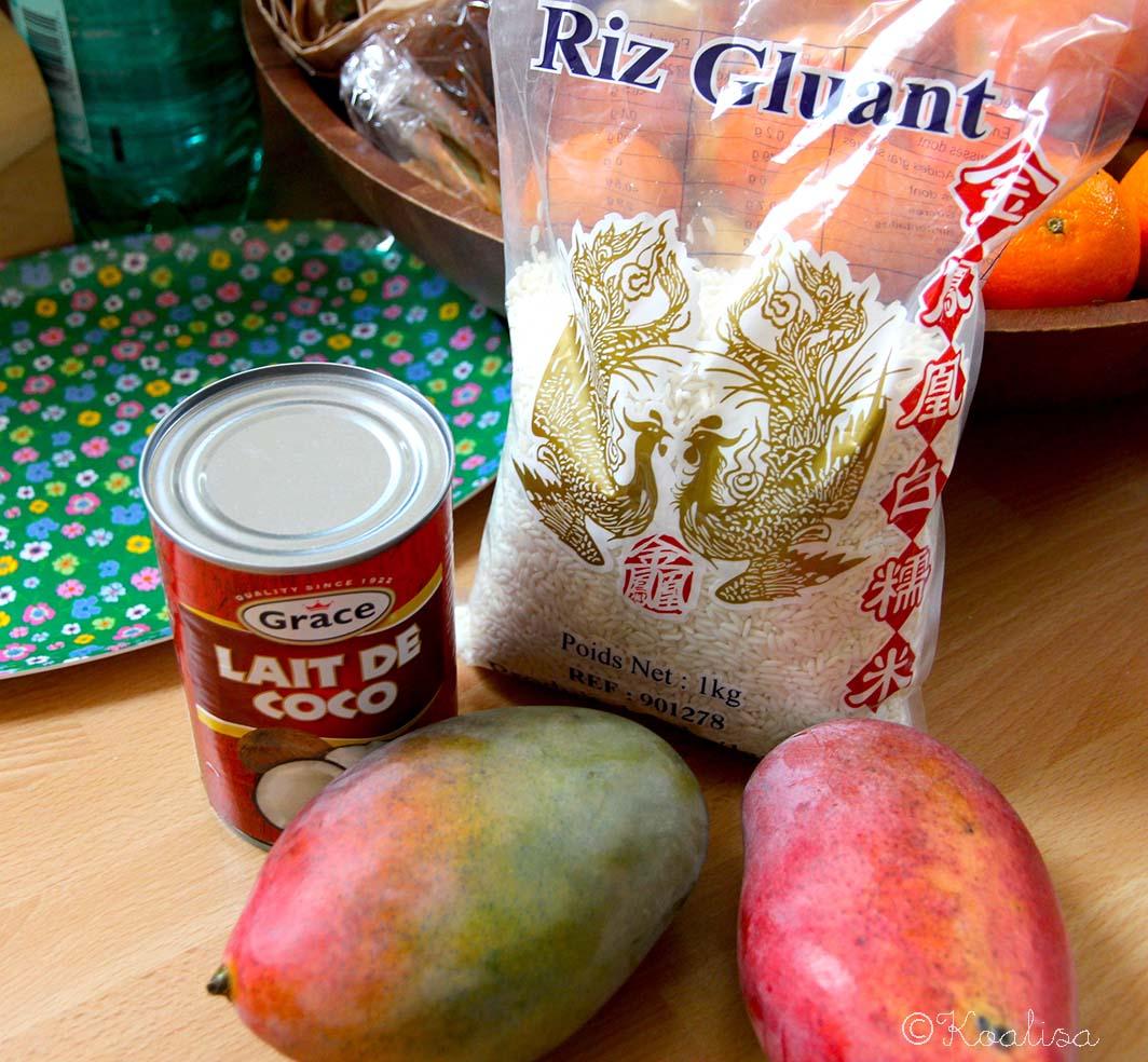 ingrédients riz gluant