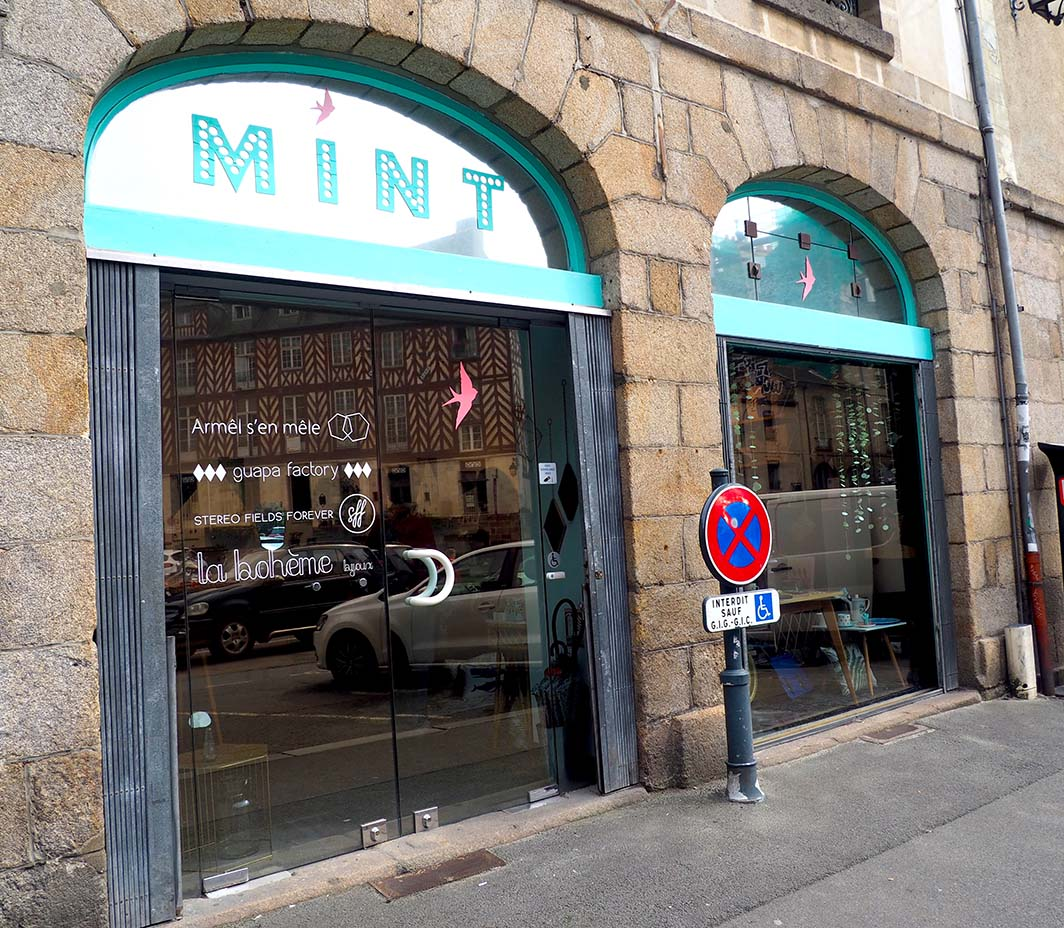 La boutique Mint,  à Rennes