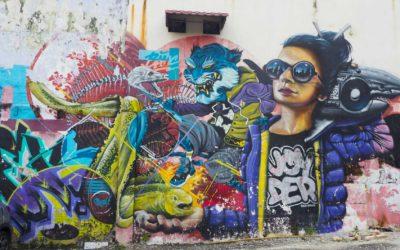 Street art à Lorong Panggung, Kuala Lumpur, Malaisie