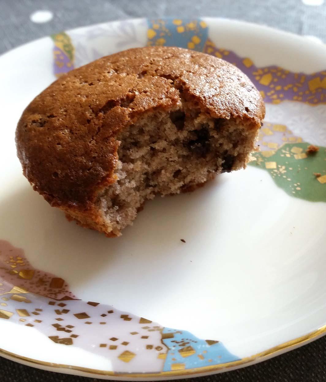 Muffins banane chocolat vegan et sans gluten